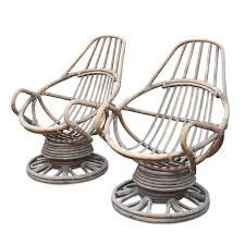 Large Round Coffee Table by Hanging Rattan Chair Chaise Sofa Display Shelves Queen Wall Bed