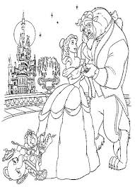 coloring pages surprising beauty beast coloring pages 27