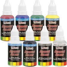 amazon com 3 airbrush kit with 6 u s art supply primary airbrush