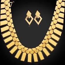 big necklace sets images U7 dubai big gold plated earrings choker necklace set for women jpg