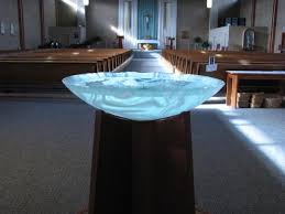 baptismal basin white swirl baptismal font george c seattle wa