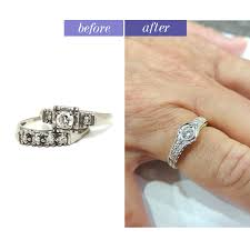 wedding rings redesigned custom designed ring the jewelry box