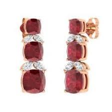Rose Gold Chandelier Earrings Chandelier Earrings In Rose Gold Diamondere