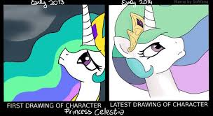 Princess Celestia Meme - princess celestia first and latest drawing meme by jokerssong on