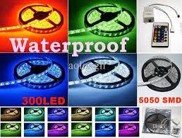5050 smd 300 led strip light rgb 5050 smd flexible rgb led strip light waterproof led lighting strips