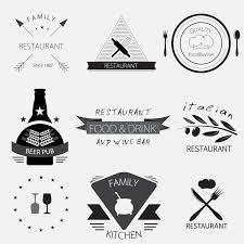 label logo or menu design for restaurant or bakery set stock