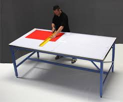 Drafting Table Vinyl Iron Man 4x8 Production Table With Rhino Cutting Mat