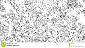 Isoline Map Vector Abstract Grayscale Earth Relief Map Generated Conceptual