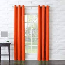 Orange Thermal Curtains Orange Curtains Drapes Window Treatments The Home Depot