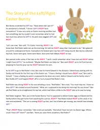 the story of the easter bunny easter bunny left right story easter for adults easter