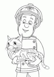 fireman sam coloring pages kids printable free
