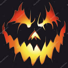 halloween background scary pumpkin u2014 stock vector svetap 6402497