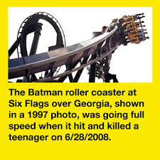Six Flags Decapitation Teen Decapitated By Batman Ride At Georgia Six Flags Cover Page