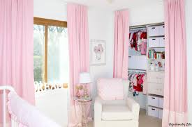 Pink Curtains For Nursery by One Room Challenge Final Reveal Nursery Refashionably Late