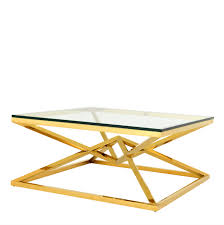 Glass And Gold Coffee Table with Coffee Table Eichholtz Connor Oroa Modern Furniture