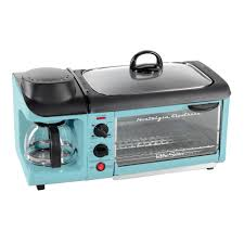 Toaster Retro Nostalgia Retro Blue Breakfast Center Toaster Oven Bset300blue