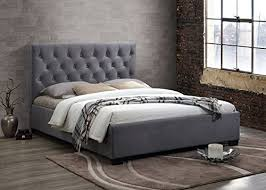happy beds cologne grey fabric bed frame only 5 u0027 king size 150 x