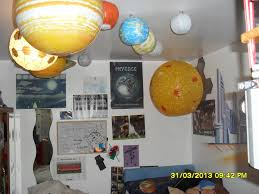 the inflatable solar system garywilliamsblog he s already got glow in the dark constellations iop posters and sandra has done a mural based on astroboy on the wall