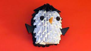 3d origami beginner tutorial 3d origami penguin tutorial for beginners youtube