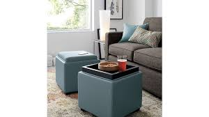 Leather Cube Ottoman Attractive Cube Storage Ottoman Stow Ocean 17 Leather Storage