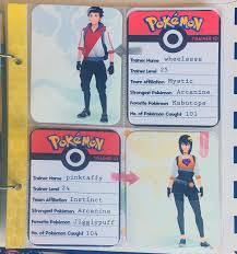 printable pokémon go trainer id cards love paper crafts