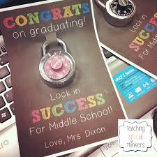 middle school graduation gifts lock in success student gift for soon to be middle schoolers