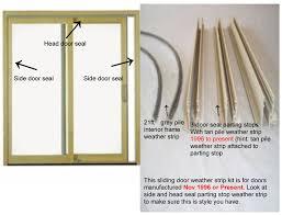 Patio Door Weather Stripping Door Weather Kit 1996 To Present