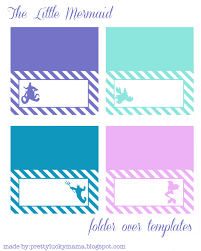 the little mermaid fold over templates free printables also