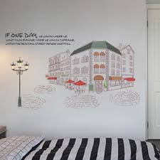 City Street Scenery Buildings Wall Sticker Vinyl Decal Home Paper