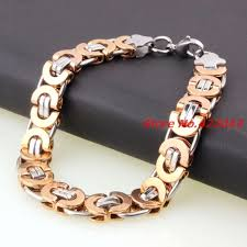 mens rose gold bracelet images Factory price fashion men bracelets jewelry silver rose gold jpg