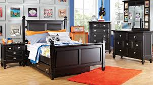 Kids Bedroom Vanity Belmar Black 5 Pc Twin Poster Bedroom Bedroom Sets Colors