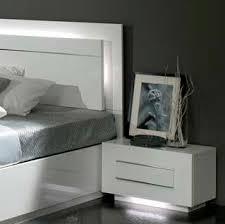 chambre laqué blanc chambre à coucher complète blanc laqué modiva
