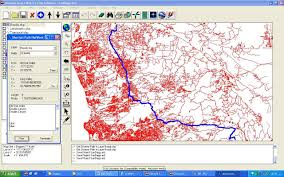 Shortest Route Map by Gis Software First African Arabian Egyptian Gis Gps Software By