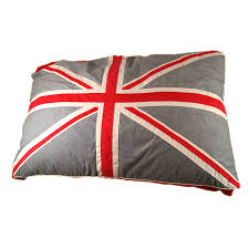 materasso per cani per cani con bandiera inglese in celeste