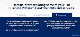 American Express Business Card Benefits American Express Business Platinum Activation Million Mile Secrets