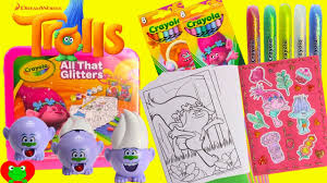 trolls movie poppy coloring pages crayola diy stickers and