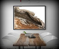 huge painting print white and brown abstract art print large