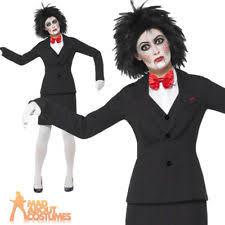 Saw Costume Ladies Saw Jigsaw Licensed Fancy Dress Costume Halloween