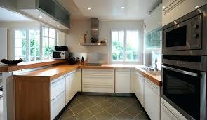 cuisine blanc laqu plan travail bois cuisine blanche plan de travail bois davaus cuisine blanche plan