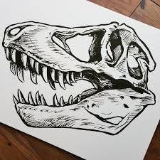 coloring page lovely t rex skull drawing tattoo coloring page t