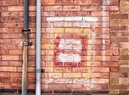 free stock photo of bricks building gutter