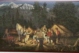 cowboy campfire campfire cowboys wallpaper border 22b2