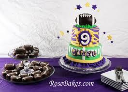 girly lsu football birthday cake chocolate covered oreo footballs