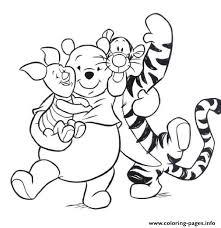 tiger piglet pooh hugging pagef186 coloring pages