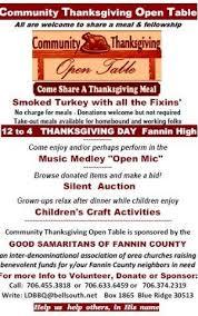 community thanksgiving open table ridge lodge
