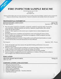 sample firefighter resume health inspector cover letter