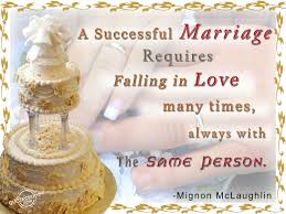 Love And Family Quotes by A Successful Marriage Requires Falling In Love Many Times Love