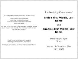 wedding program template half page wedding program templates free europe tripsleep co