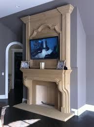 cast stone fireplace mantel surrounds home krafts