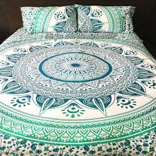 emerald ombre tapestry bedding green duvet covers duvet and